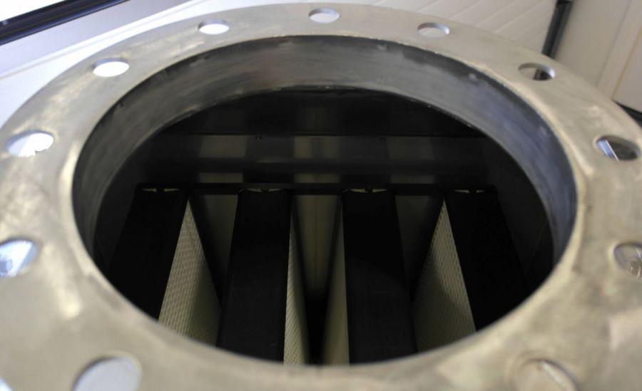 RVS luchtfilterunit